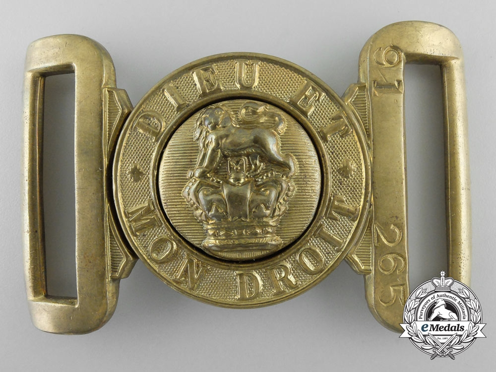 eMedals-A Canadian Victorian General Service Belt Buckle