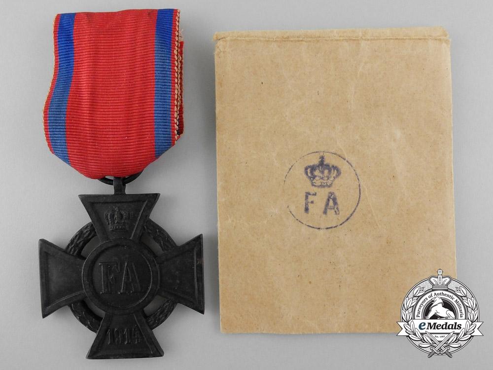 eMedals-A Mint Oldenburg Friedrich August Cross; 2nd Class with Dem Feinde Ribbon & Packet