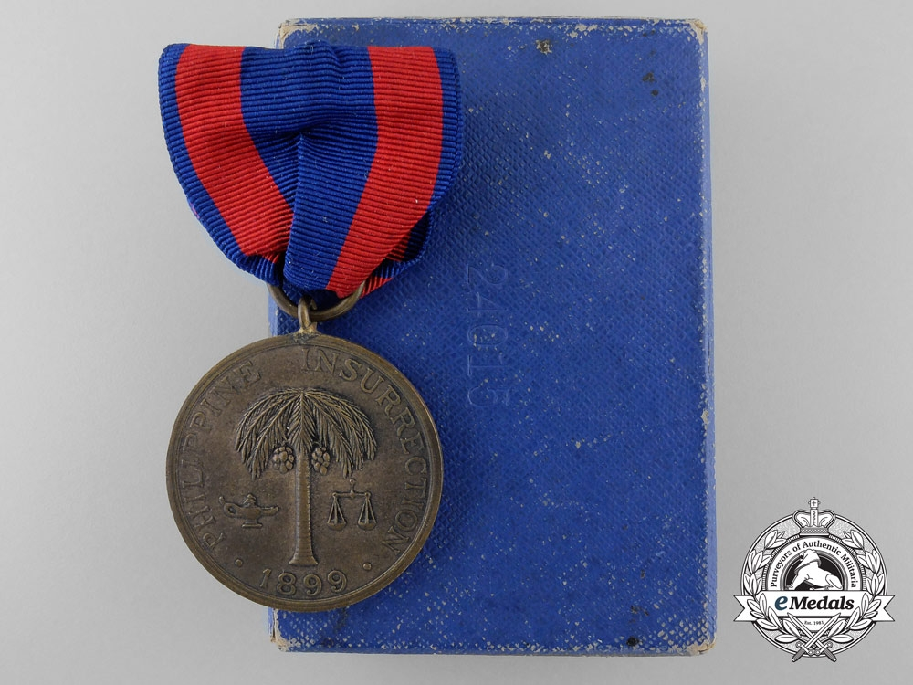eMedals-An American Army Philippine Insurrection Medal 1899, Boxed