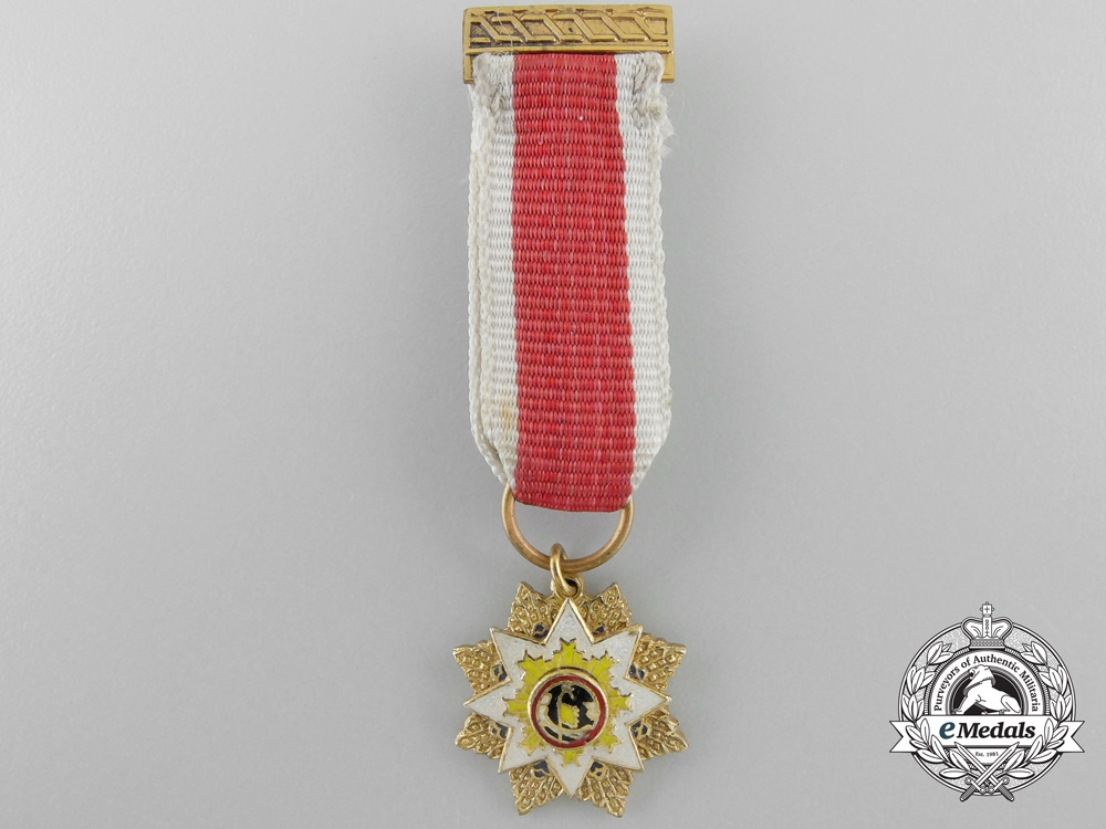 eMedals-An 1928-1949 Chinese Miniature Order of the Resplendent Banner