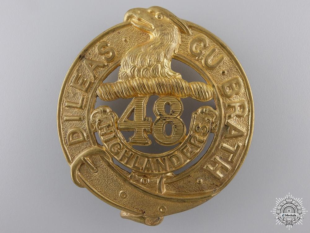eMedals-A 48th Highlanders Regiment Cap Badge c.1904