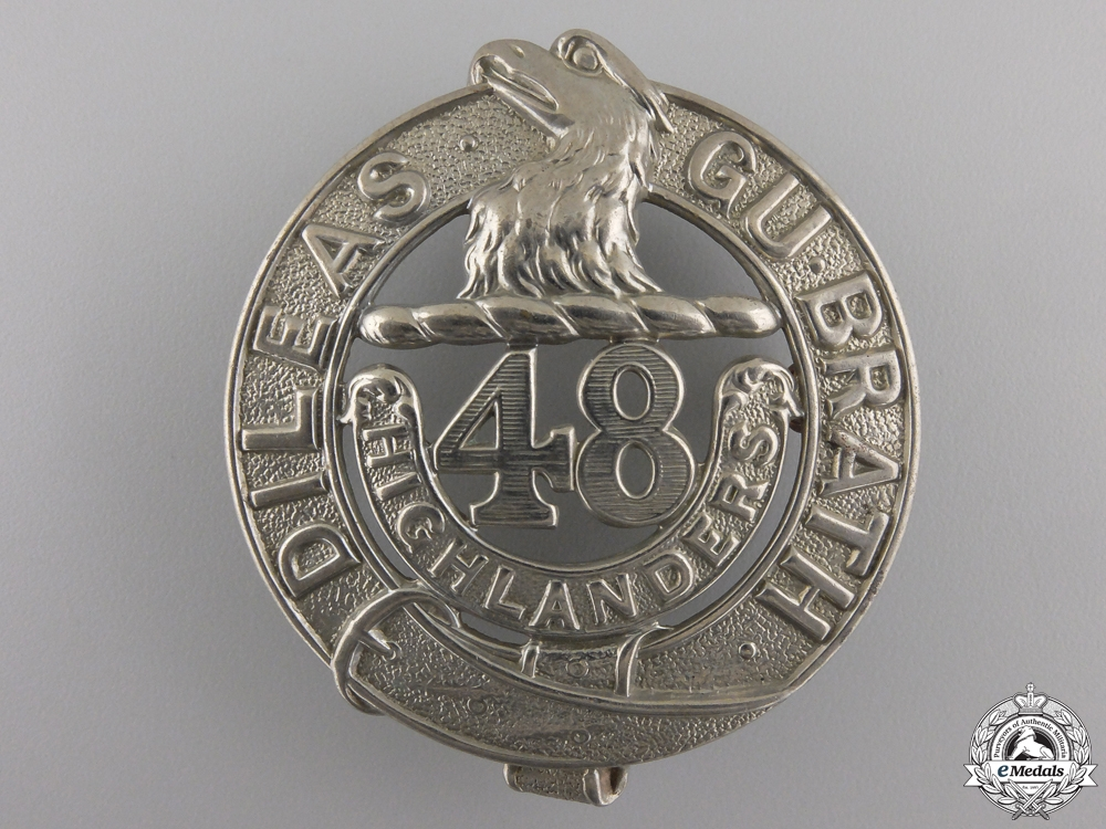 eMedals-A 48th Highlanders Battalion Glengarry Badge
