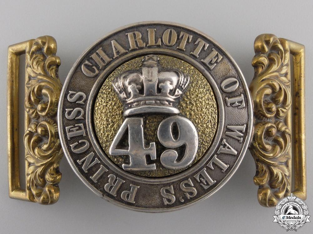 eMedals-A 49th Regiment Officer's Belt Buckle