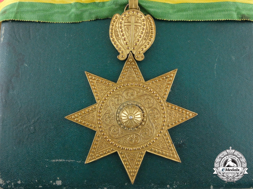 eMedals-An Order of the Star of Ethiopia; Commander with Case by B.A.Sevadjian