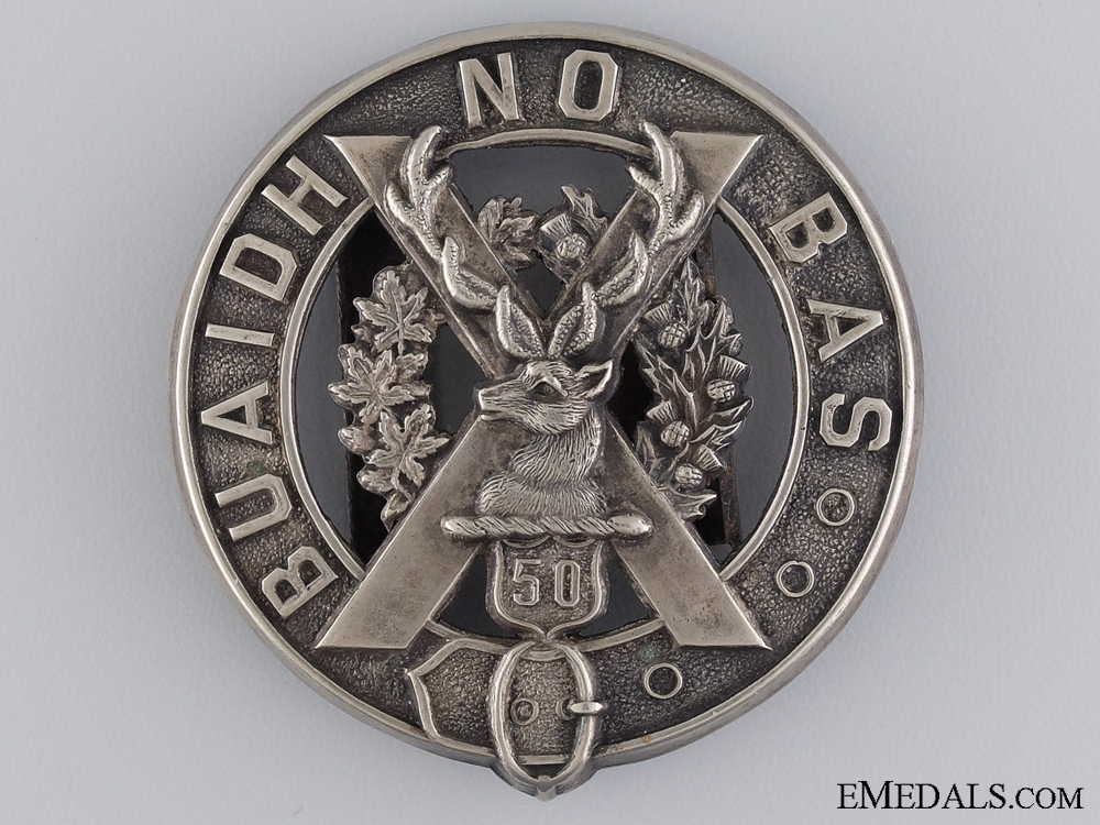 eMedals-A 50th Regiment (Gordon Highlanders of Canada) Belt Buckle