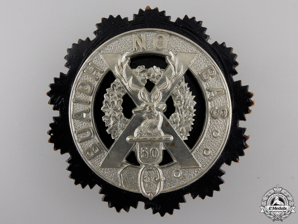eMedals-A 50th Regiment Gordon Highlanders Glengarry Badge