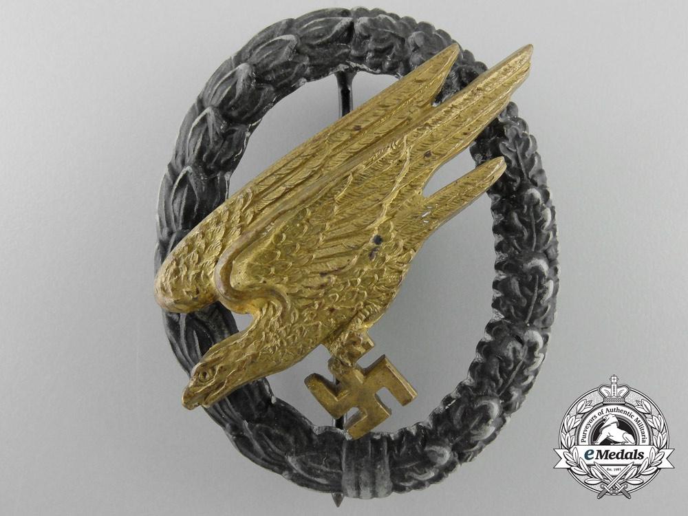 eMedals-A Luftwaffe Fallschirmjäger Badge by C.E.Juncker; F Type