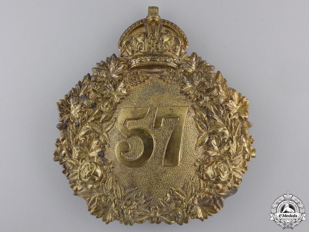 eMedals-A 57th Regiment Peterborough Rangers Helmet Plate 1904-1920