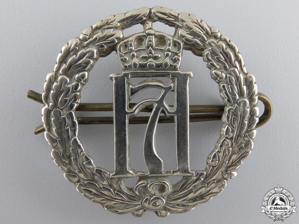 eMedals-A 5th Norwegian Troop 10th Commando Volunteers in the United Kingdom Beret Badge 1940-1945