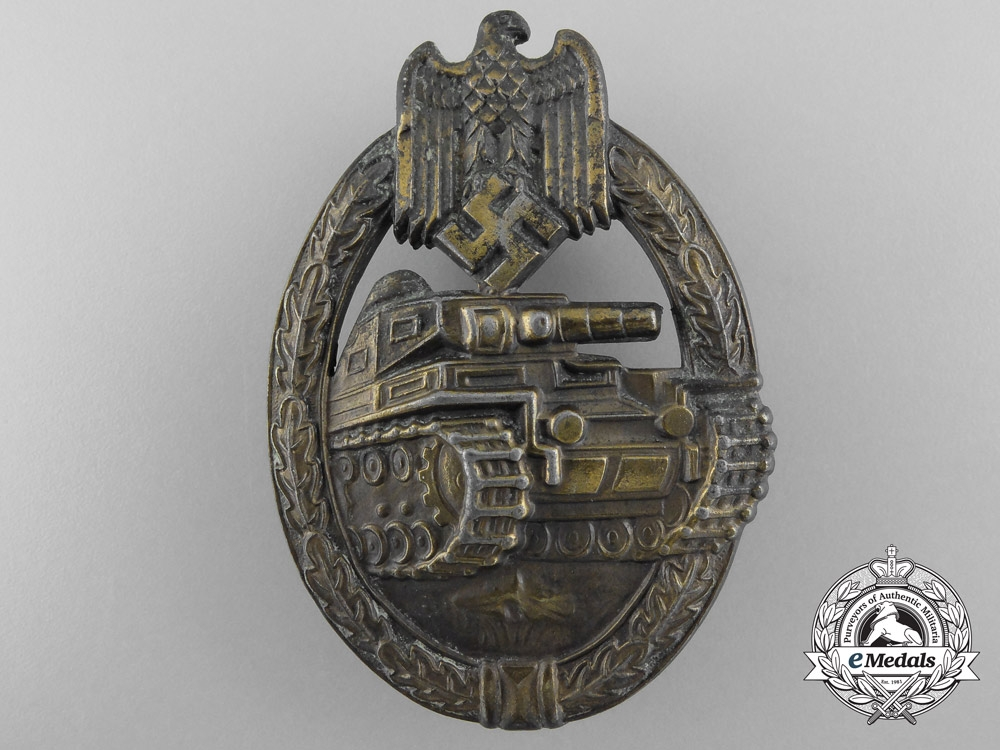 eMedals-A Bronze Grade Tank Badge by Frank & Reif