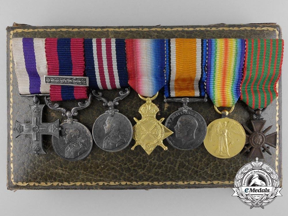 eMedals-A Fine First War Miniature Gallantry Medal Bar
