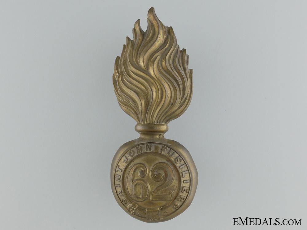 eMedals-A 62nd Saint John Fusiliers Grenade Badge