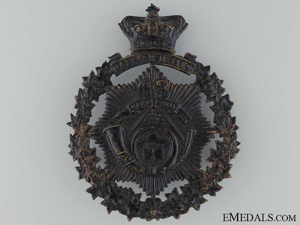 eMedals-A 63rd Halifax Rifles Victorian Helmet Plate