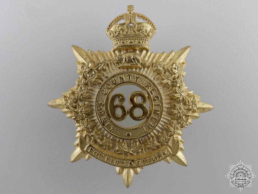 eMedals-A 68th King's County Regiment Cap Badge