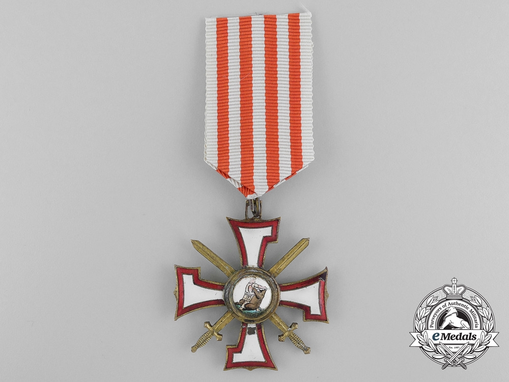 eMedals-Latvia. An Order of the Bear Slayer, Knight's Cross, c.1930
