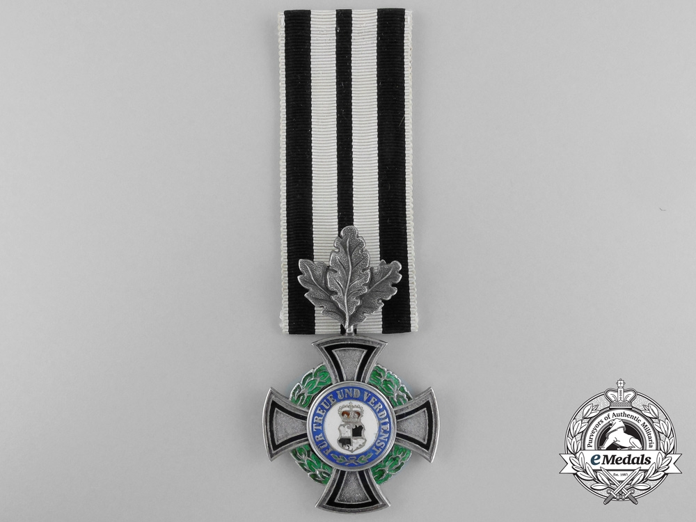 eMedals-A House Order of Hohenzollern, 3rd Class with Oak Leaves