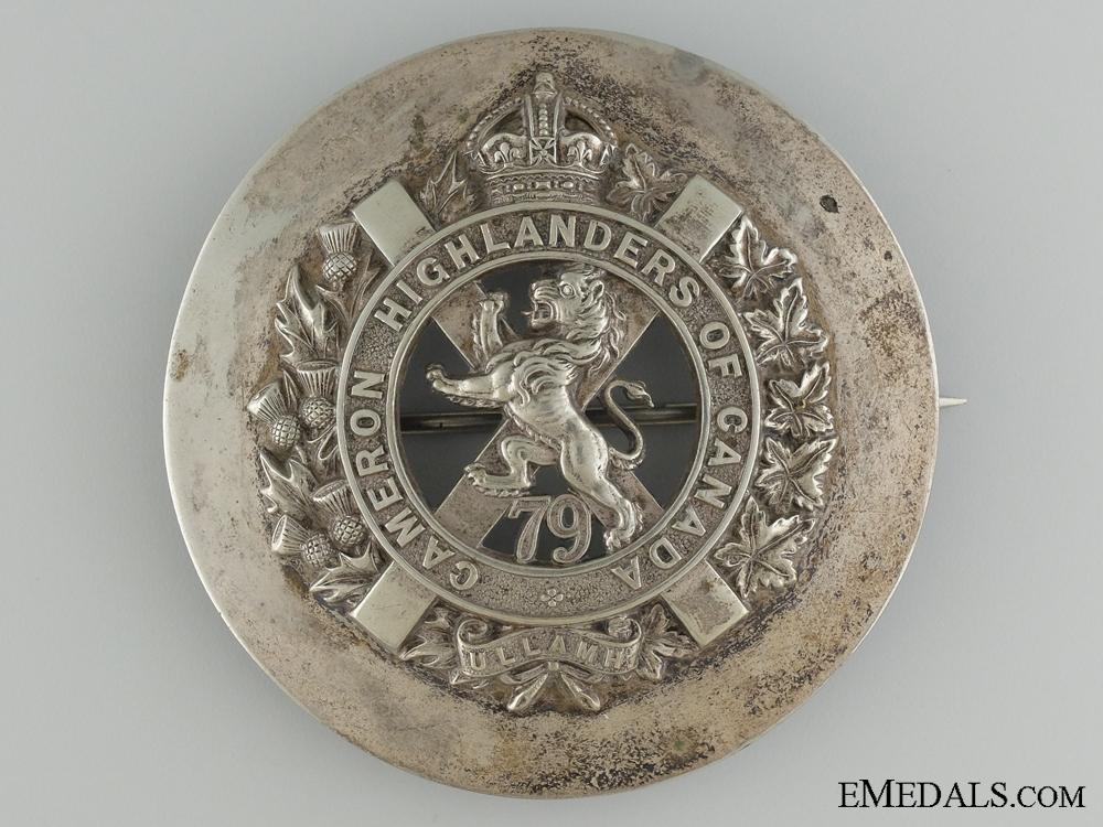 eMedals-A 79th Cameron Highlanders of Canada Plaid Brooch