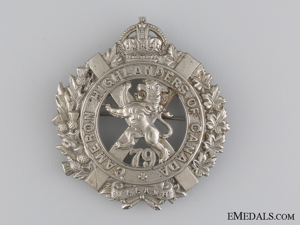 eMedals-A 79th Cameron Highlanders of Canada Glengarry Badge
