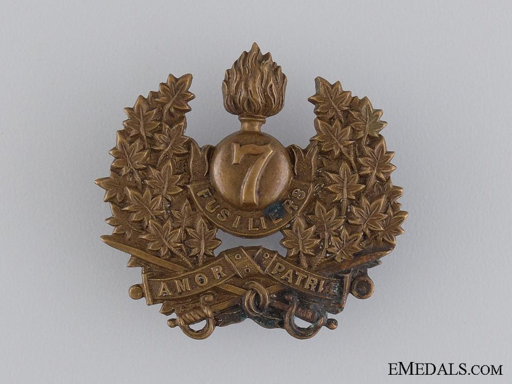 eMedals-A 7th Canadian Regiment (Fusiliers) Cap Badge