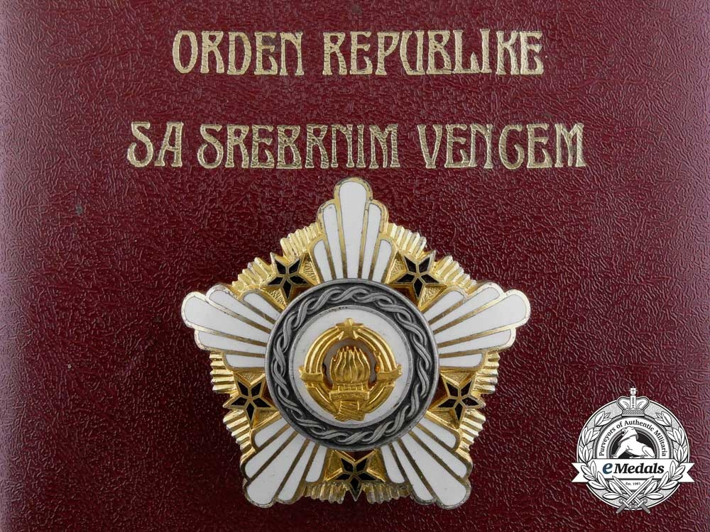 eMedals-A Yugoslavian Order of the Republic; 2nd Class with Silver Wreath & Case