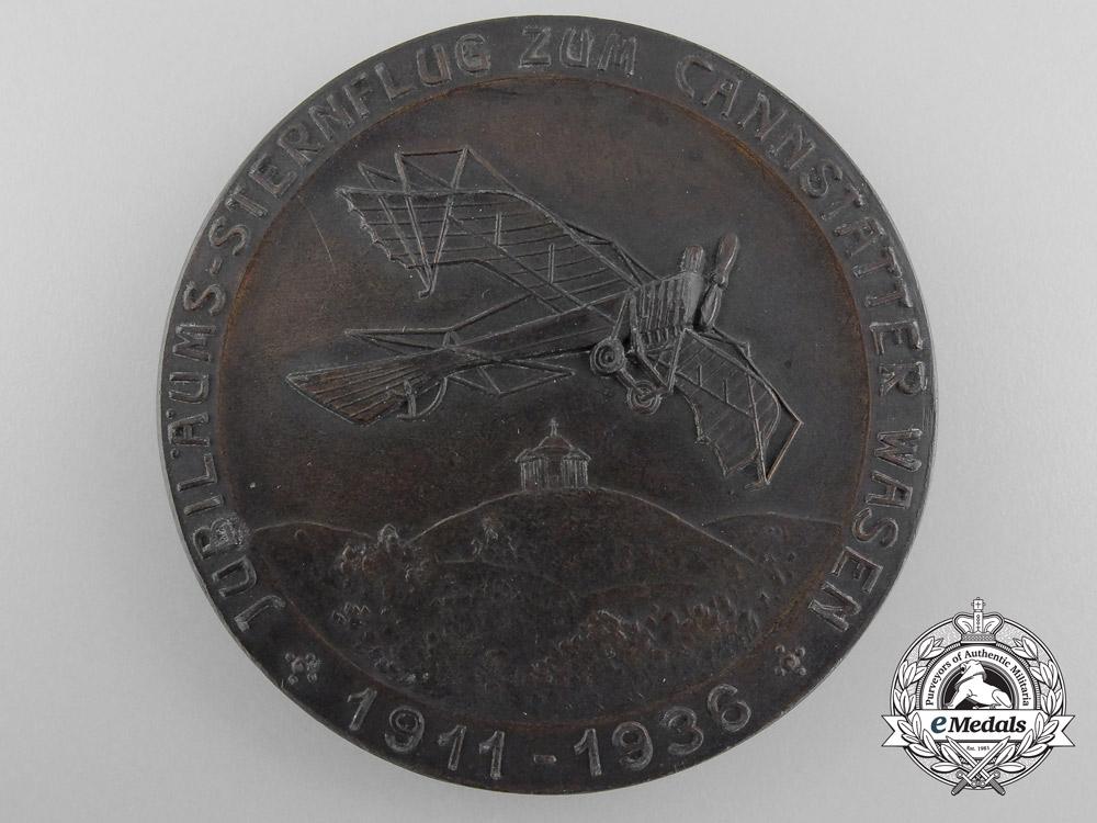 eMedals-A 1911-1936 Cannstatter Wasen Jubilee Flight Medal