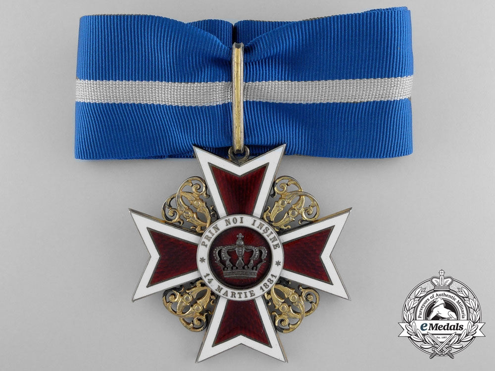 eMedals-A Order of the Crown of Romania; 3rd Class Commander Type I