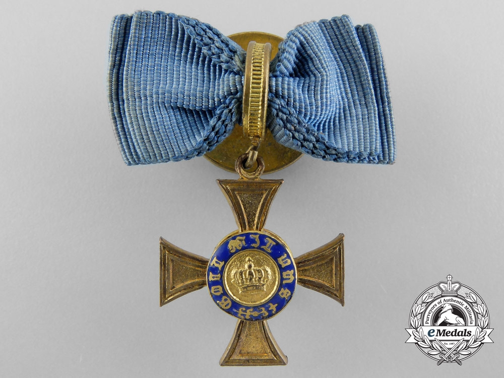 eMedals-A First War Period Miniature Prussian Crown Order