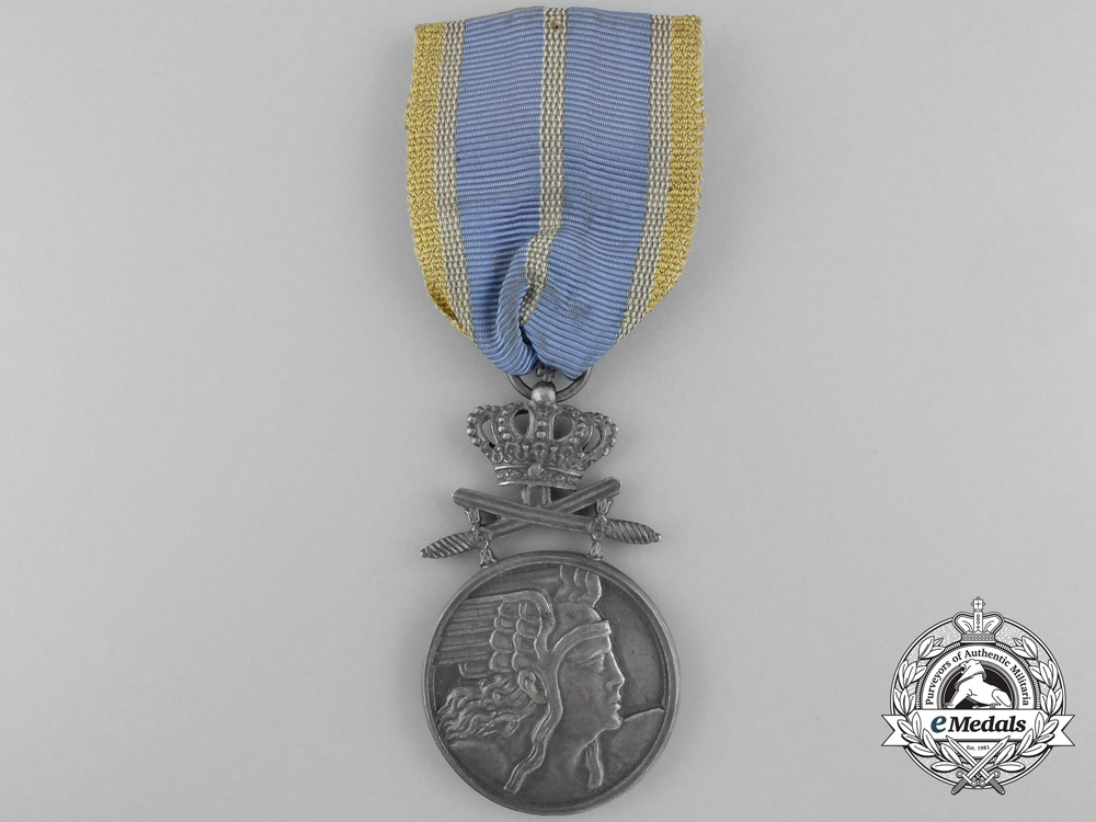 eMedals-A Romanian Air Force Bravery Medal with Crossed Swords; Silver Grade