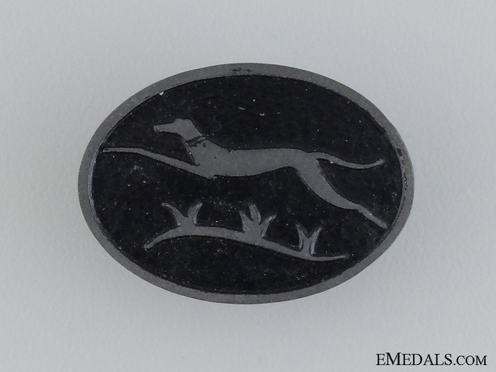 "eMedals-A ""Windhund"" Cap Badge of the 116th Panzer Division"
