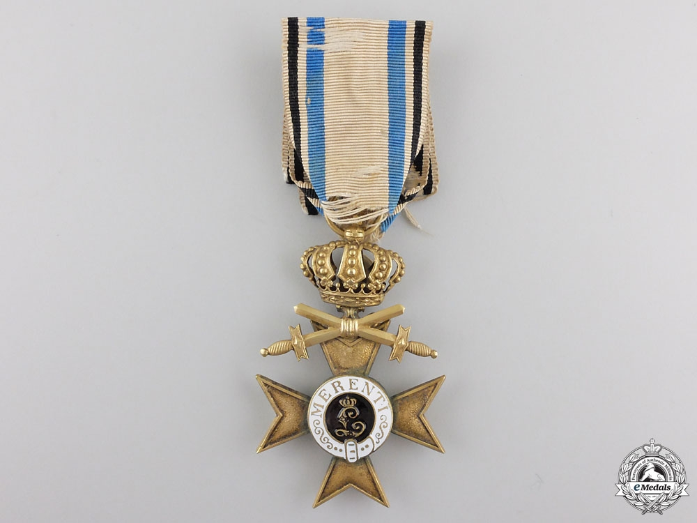 eMedals-A BAVARIAN 1ST CLASS MILITARY MERIT CROSS WITH CROWN & SWORDS