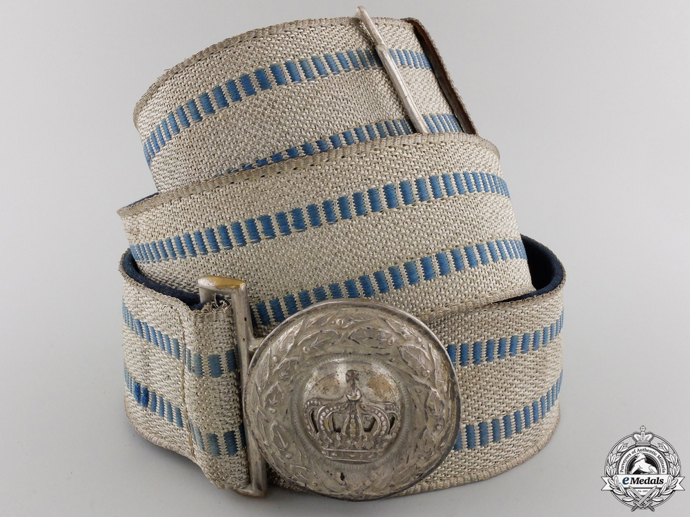 eMedals-A Bavarian Officer's Brocade Belt & Buckle