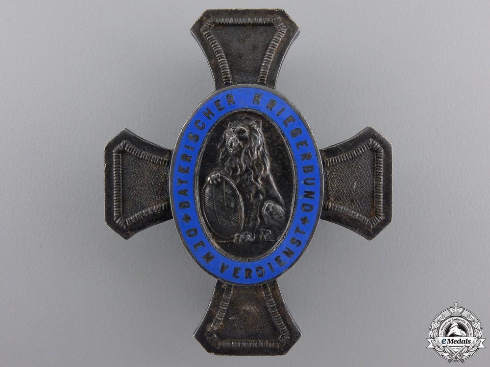 eMedals-A Bavarian War Veteran Organization Honour Cross by Deschler