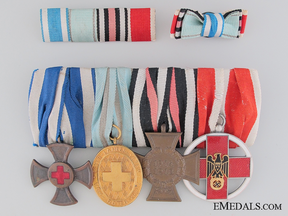 eMedals-A Bavarian WWI/WWII Red Cross Medal Bar
