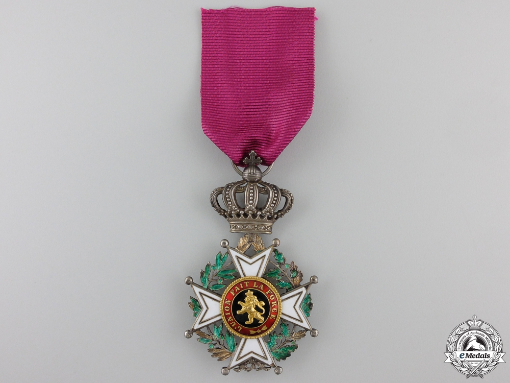 eMedals-A Belgian Leopold Order; Knight's Badge