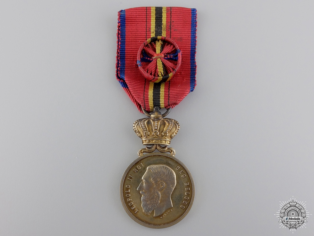 eMedals-A Belgian Life Saving Society Medal; Gold Grade