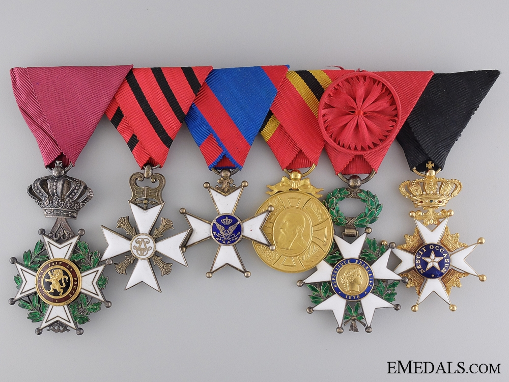 eMedals-A Belgian Medal Bar with Swedish Order of the North Star in Gold