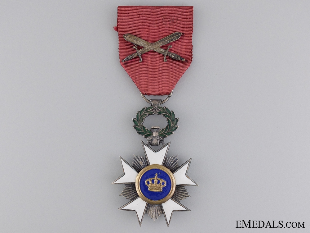 eMedals-A Belgian Order of the Crown; Knight with Swords