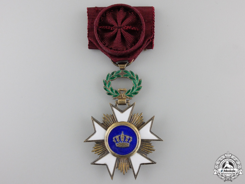 eMedals-A Belgian Order of the Crown; Knight Officer