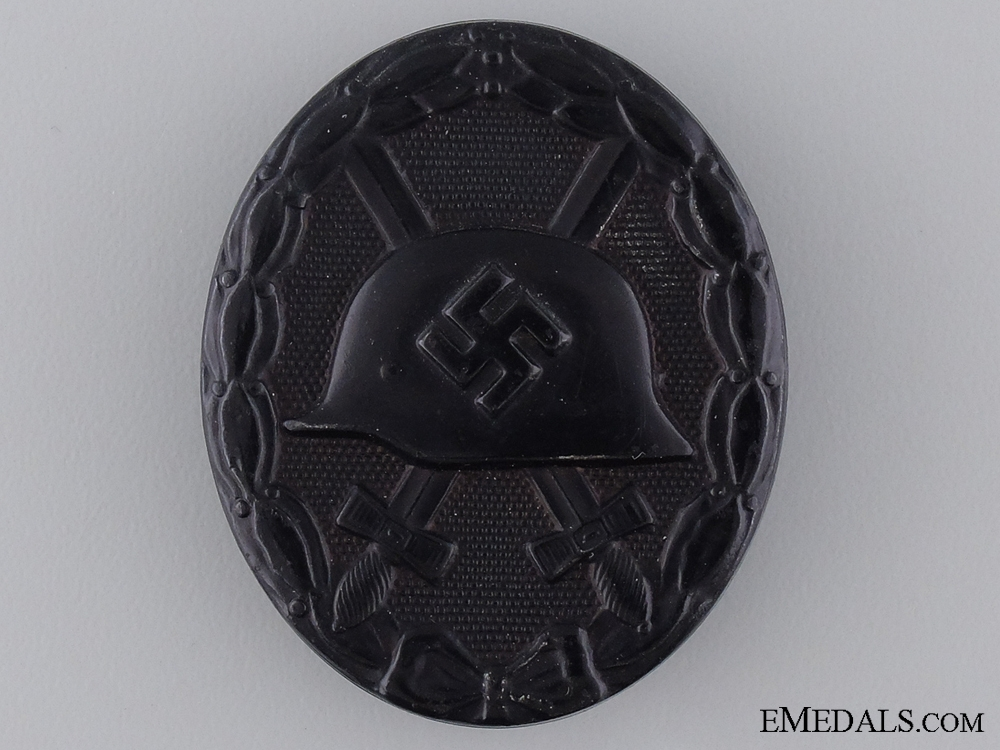eMedals-A Black Grade Second War Wound Badge; Marked