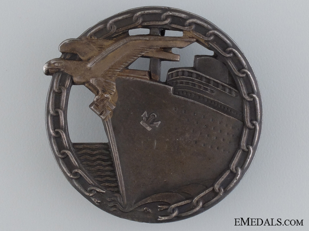 eMedals-A Blockade Runner Badge by Schwerin, Berlin