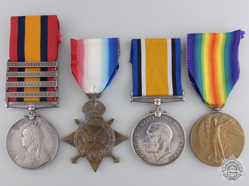 eMedals-A South Africa Campaign & First Canadian Mounted Rifles Medal Grouping