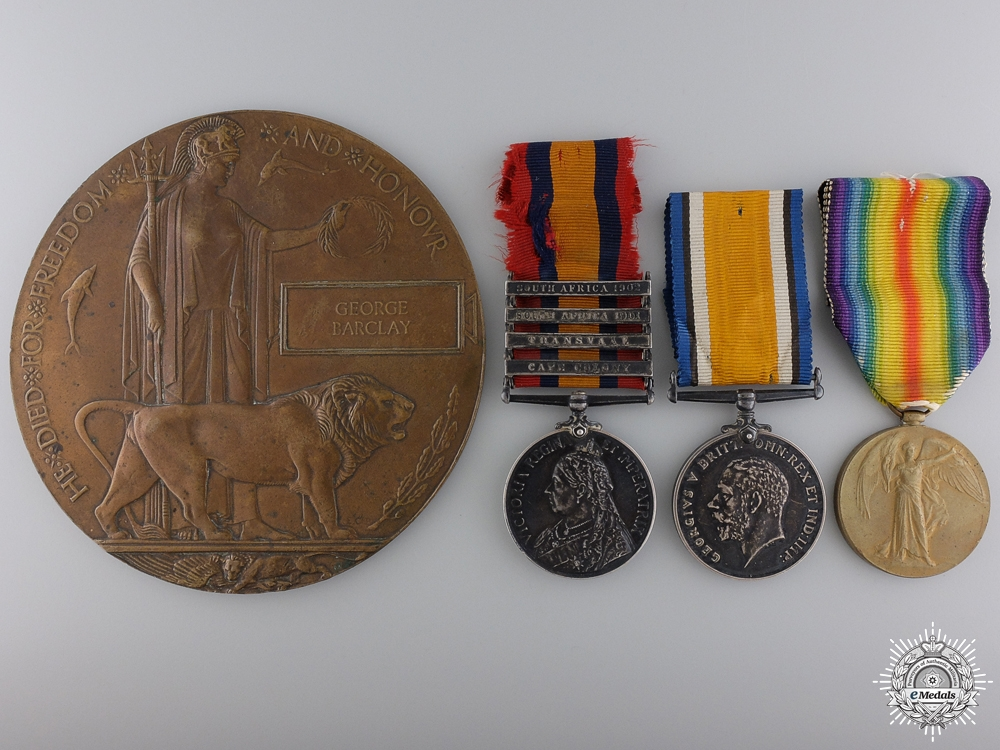 eMedals-A Boer War & WWI Memorial Group to the Canadian Field Artillery