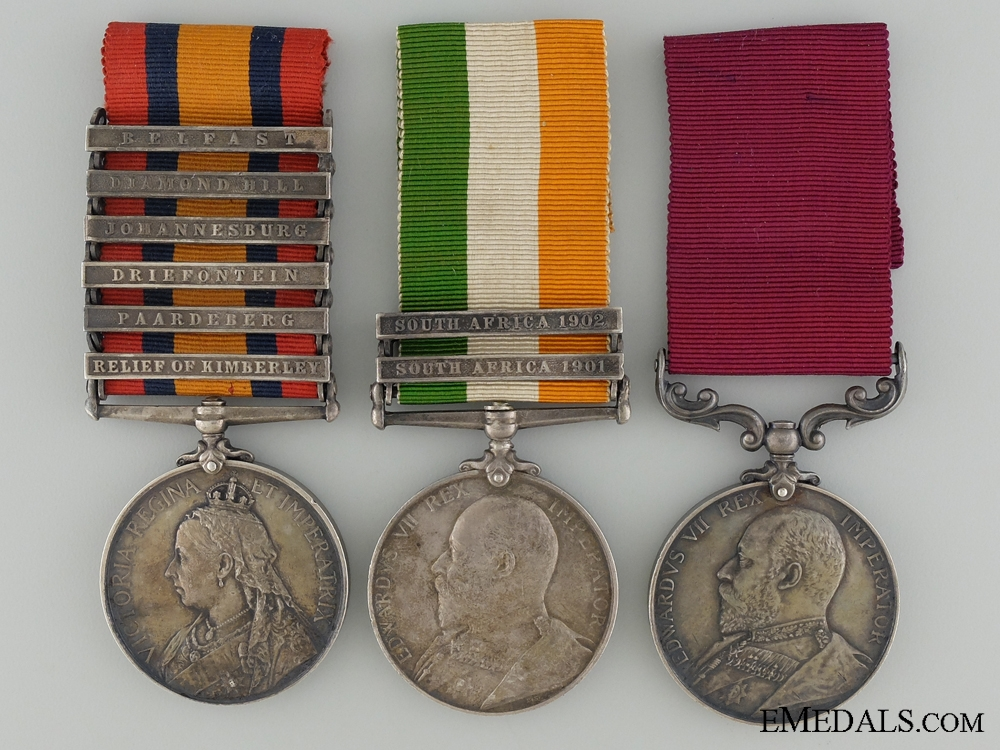 eMedals-A Boer War Medal & Long Service Group to the Army Service Corps