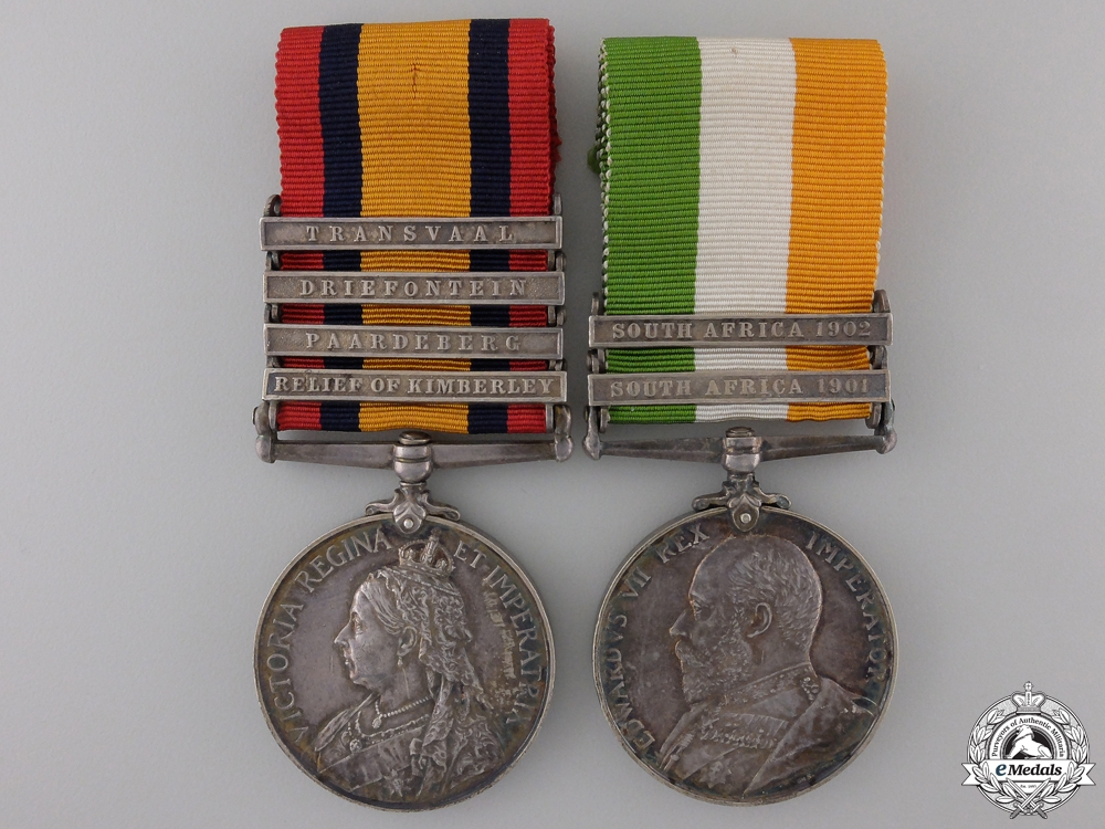 eMedals-A Boer War Pair to the West Riding Regiment