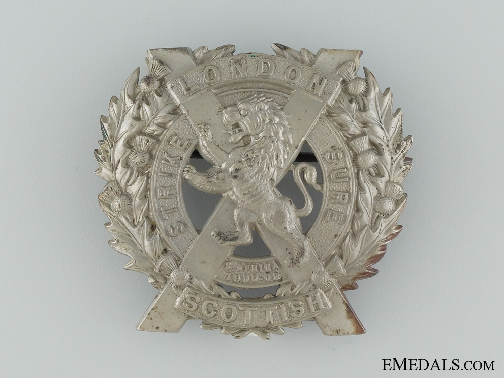 eMedals-A Boer War Period London Scottish Glengarry Badge