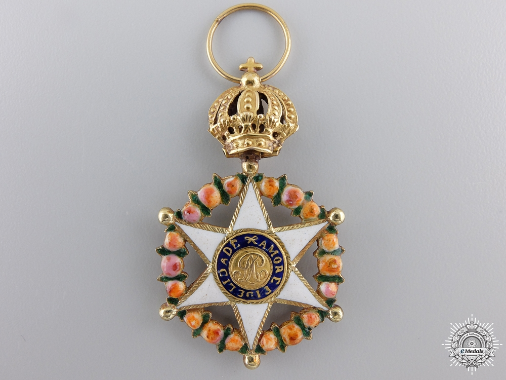 eMedals-A Brazilian Order of the Rose in Gold;  Knight's Badge