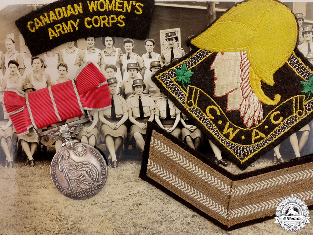 eMedals-A British Empire Group to the Canadian Women's Army Corps