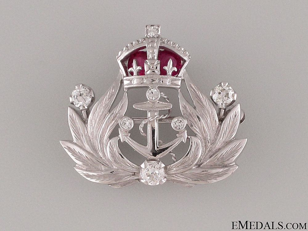 eMedals-A British Gold, Rubies & Diamonds Naval Brooch