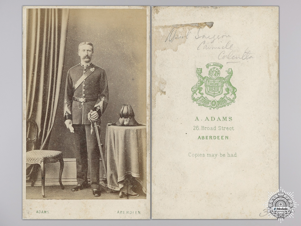 eMedals-A British Indian Army Medical Officer Photograph; Surgeon Carmichael