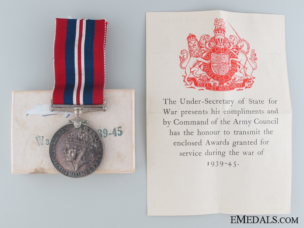 eMedals-A British Issued War Medal 1939-45